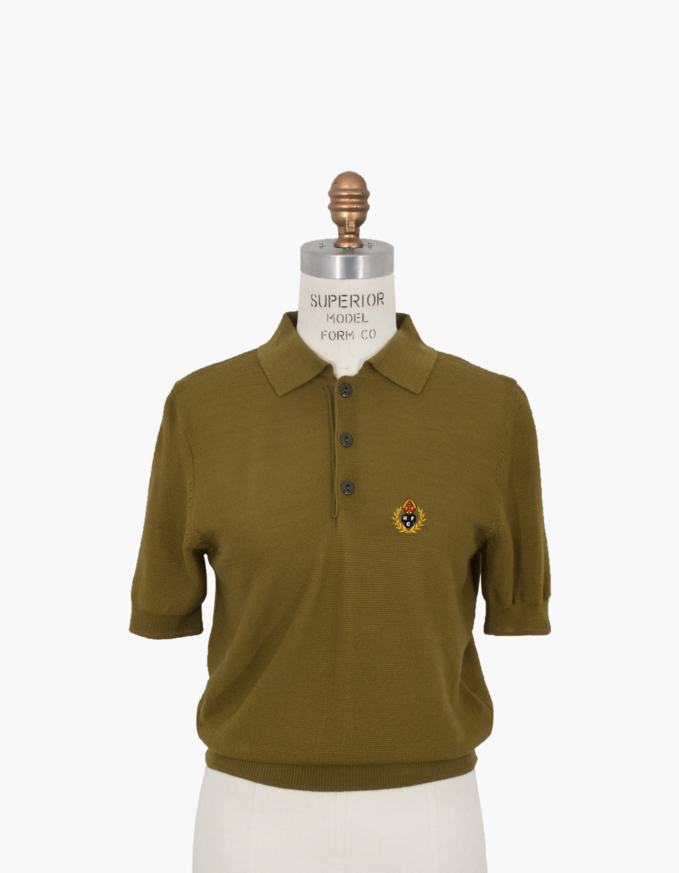 HFC CREST POLO SHIRTS (W) / OLIVE