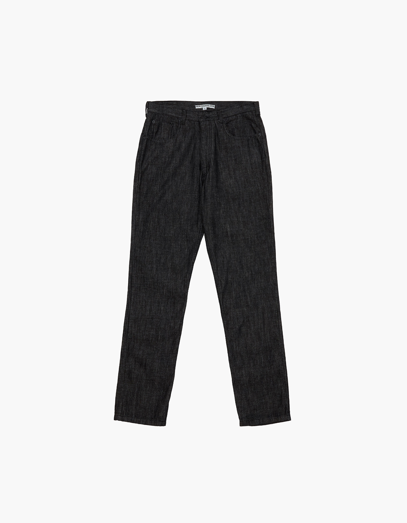 YARN DYED DENIM PANTS / BLACK