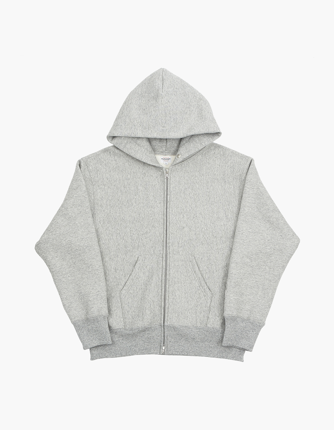 HELINOX X HERITAGEFLOSS 221 REVERSE ZIP-UP / M.GREY