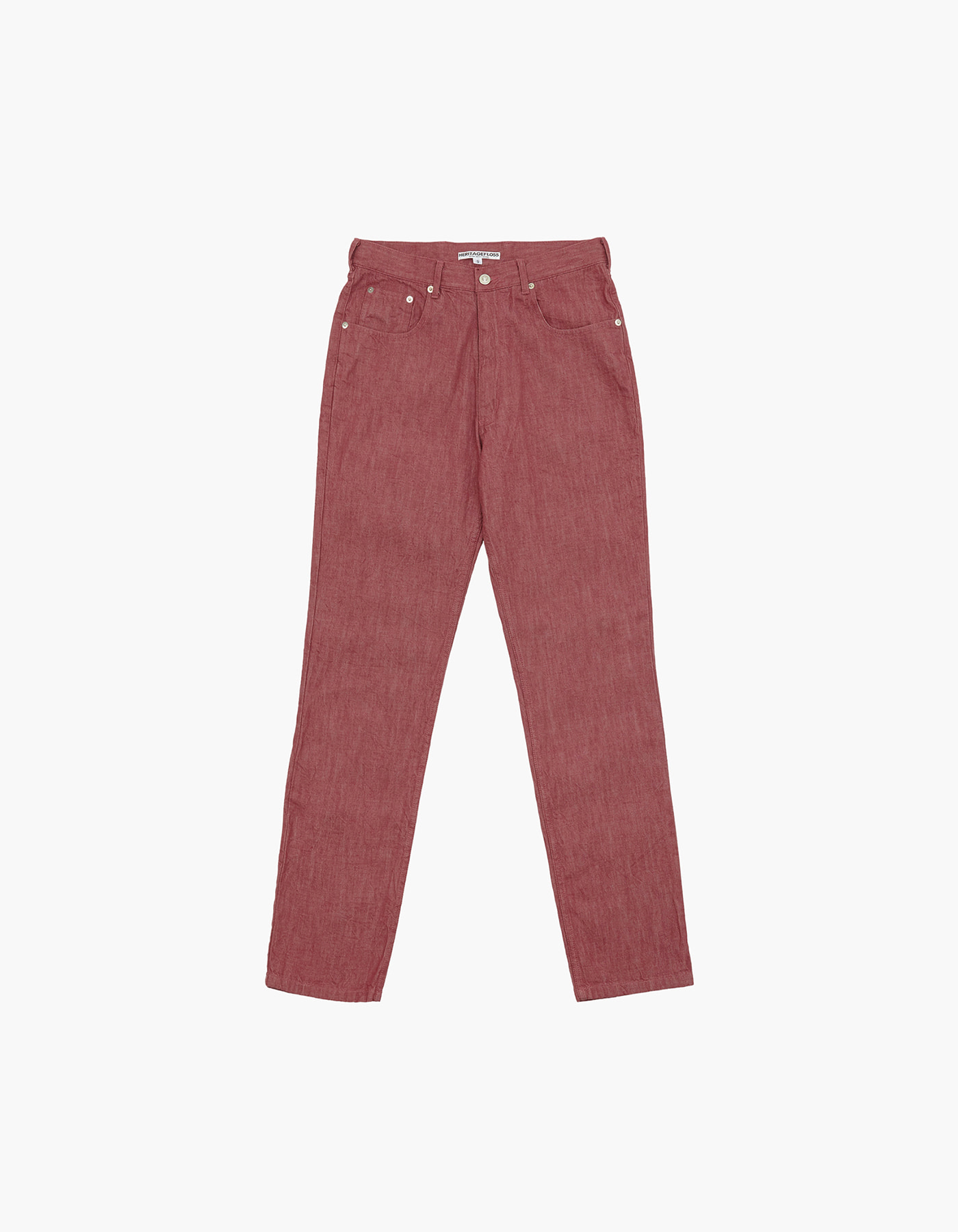 YARN DYED DENIM PANTS / RED