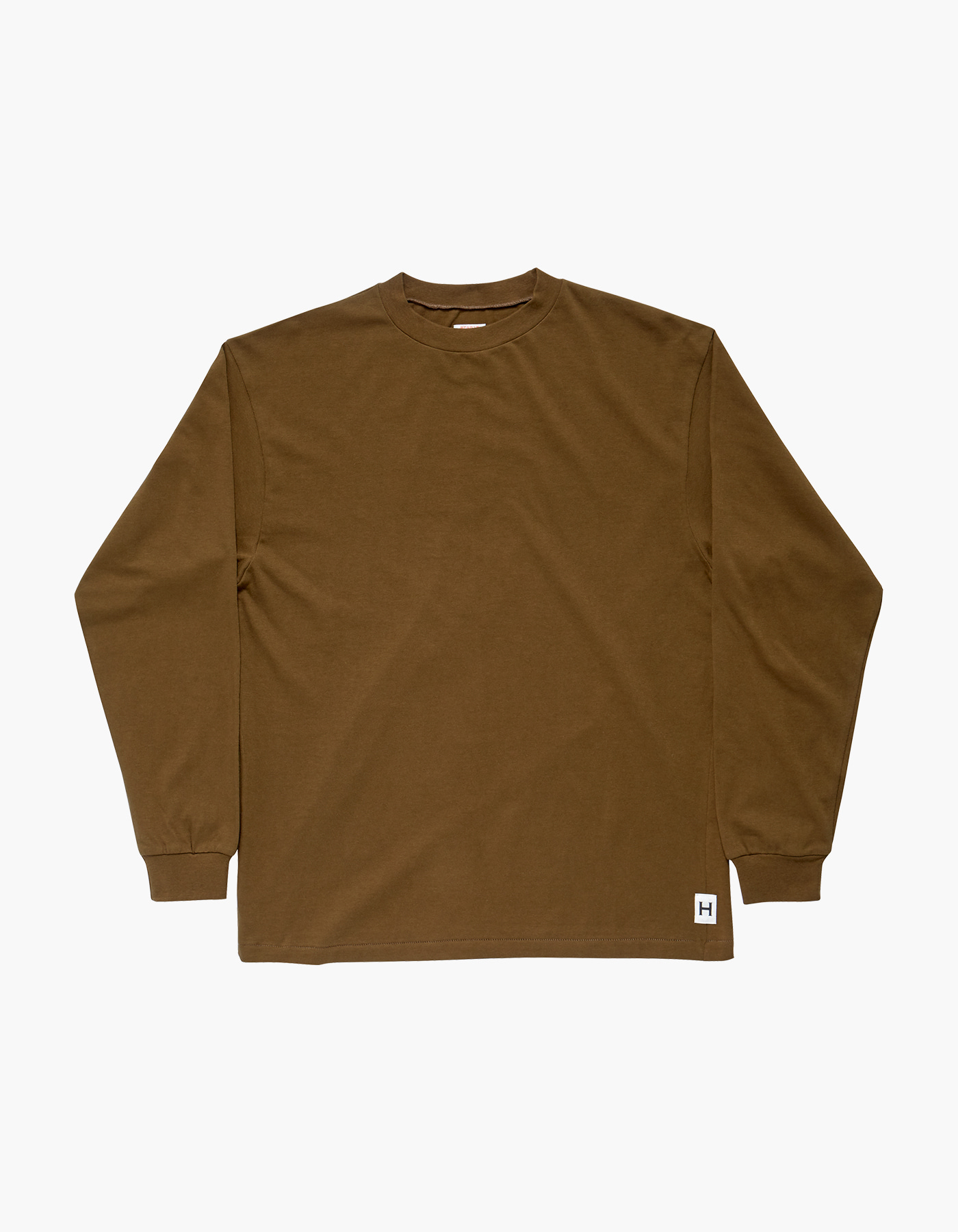 AMERICAN COTTON SINGLE LONG SLEEVE / DESERT KHAKI