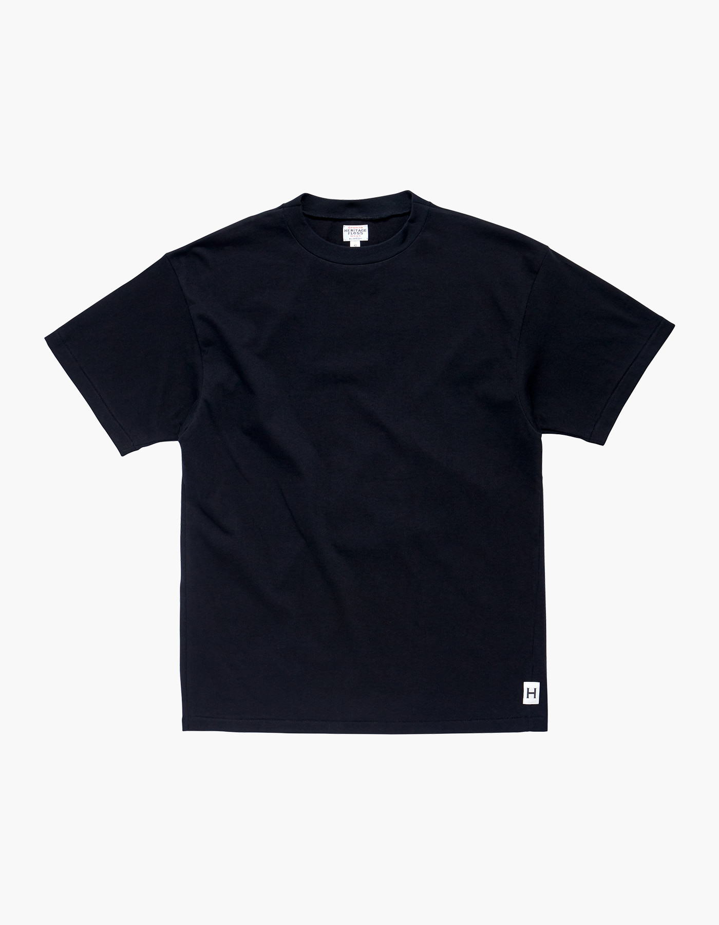 AMERICAN COTTON SINGLE T-SHIRTS / BLACK