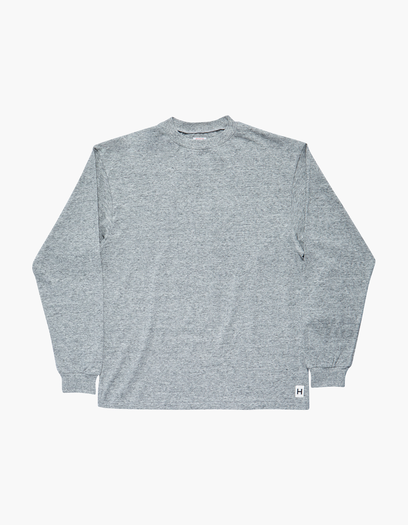 AMERICAN COTTON SINGLE LONG SLEEVE / M.GREY