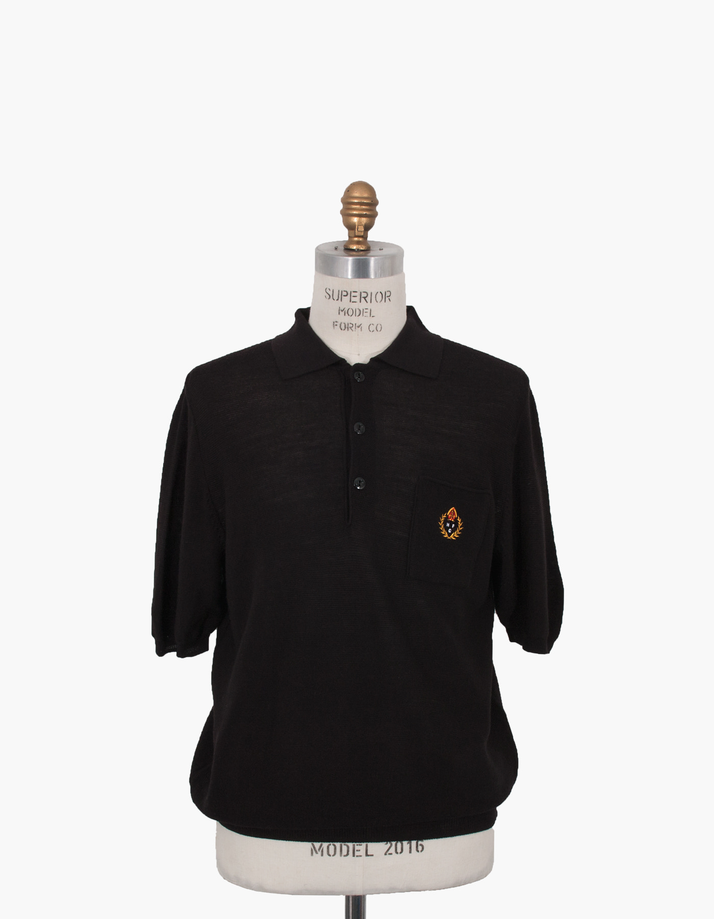 HFC CREST POLO SHIRTS / BLACK