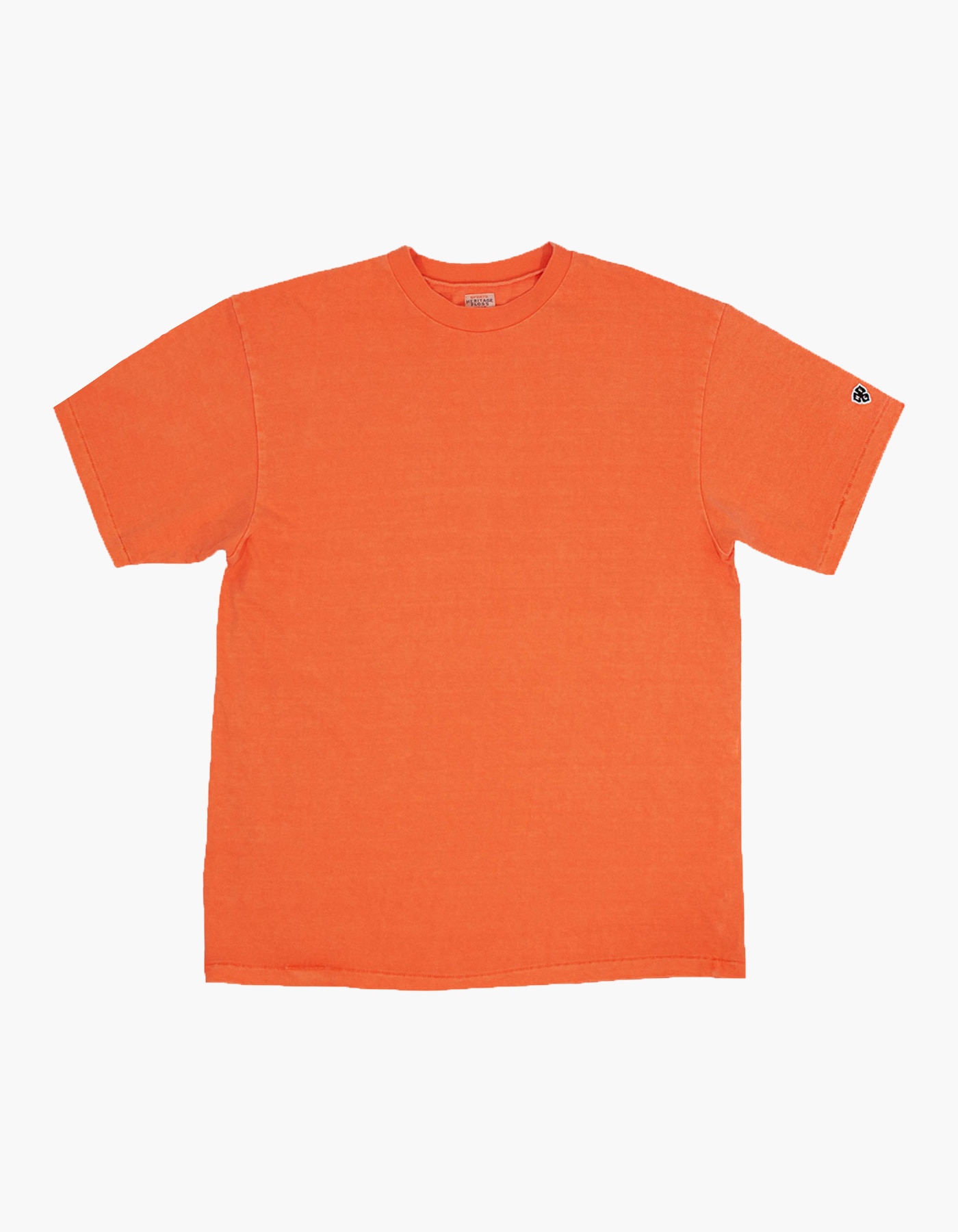 PIGMENT COMPACT YARN T-SHIRTS / ORANGE