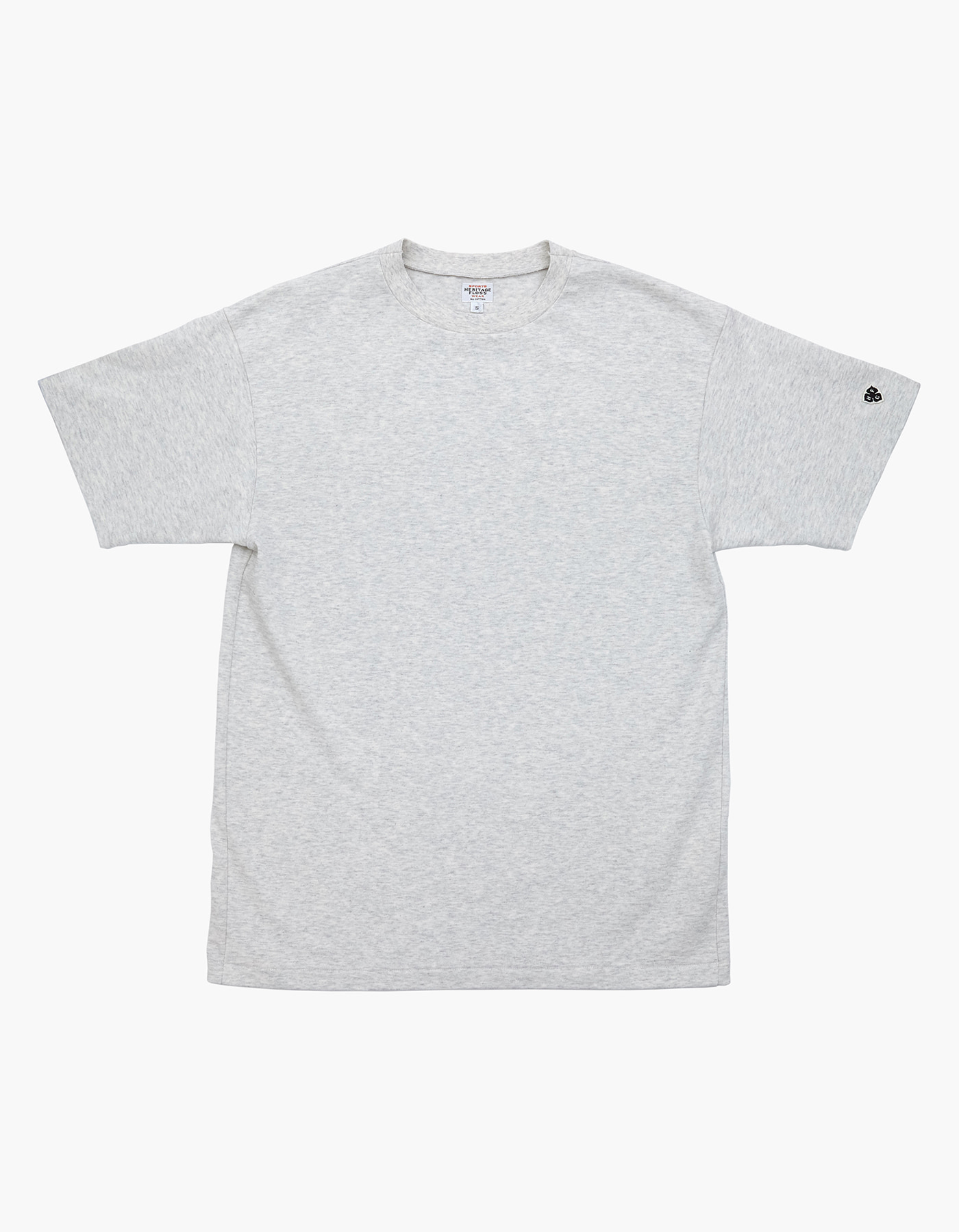 10S COMPACT YARN T-SHIRT / M.GREY(1%)